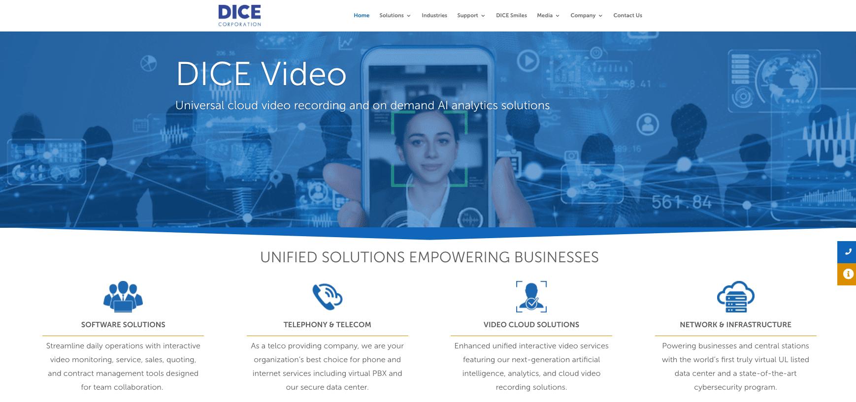 DICE Corporation Website
